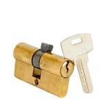 Bloqueo y clave de puerta Imagen de archivo libre de regalías