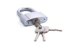 Bloqueo y claves Imagen de archivo libre de regalías
