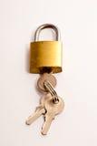 Bloqueo y claves Fotografía de archivo libre de regalías