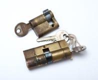 Bloqueo y claves Foto de archivo libre de regalías