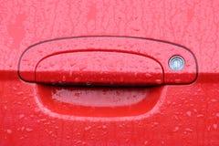 Bloqueo y maneta de puerta de coche Imágenes de archivo libres de regalías