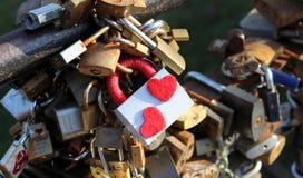 Bloqueos del amor Foto de archivo libre de regalías