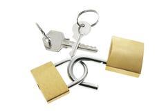 Bloqueos y claves Fotos de archivo