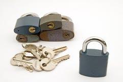 bloqueos y claves Imágenes de archivo libres de regalías