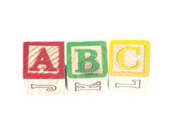 Bloques ABC de las letras imagen de archivo libre de regalías