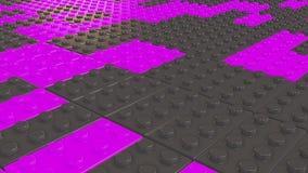 Bloques abstractos del juguete en color púrpura y gris libre illustration