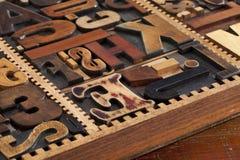 Bloques antiguos del prinitng de la prensa de copiar foto de archivo libre de regalías
