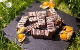 Bloques/barras simples del chocolate Imagen de archivo libre de regalías