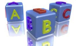 Bloques coloreados del ABC Imágenes de archivo libres de regalías