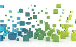Bloques coloreados extracto Foto de archivo