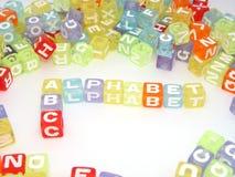 Bloques coloridos del alfabeto del ABC Imagen de archivo libre de regalías