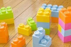 Bloques coloridos del juguete Imagenes de archivo