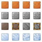 Bloques cuadrados para el juego 1 de la física Fotografía de archivo libre de regalías
