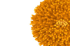 bloques 3d como esfera anaranjada abstracta Foto de archivo