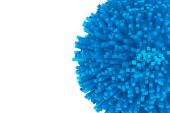 bloques 3d como esfera azul abstracta Fotos de archivo