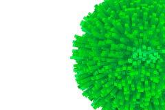 bloques 3d como esfera verde abstracta Foto de archivo libre de regalías