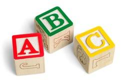 Bloques de ABC aislados Fotos de archivo libres de regalías