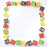 Bloques de ABC con el espacio de la copia Imágenes de archivo libres de regalías