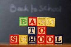 Bloques de ABC de nuevo a escuela Imágenes de archivo libres de regalías