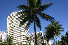 Bloques de apartamentos de Hawaii Foto de archivo libre de regalías