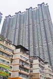 Bloques de apartamentos en Hong-Kong Foto de archivo