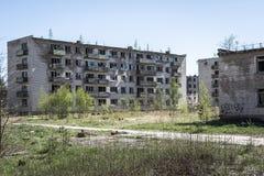 Bloques de apartamentos soviéticos abandonados fotos de archivo libres de regalías