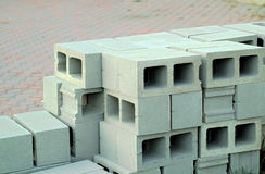 Bloques de cemento de HDR Imagen de archivo libre de regalías