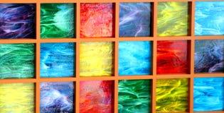 Bloques de cristal coloreados Fotografía de archivo libre de regalías