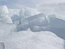 Bloques de hielo Imágenes de archivo libres de regalías