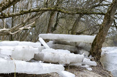 Bloques de hielo Imagen de archivo
