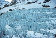 Bloques de hielo en el glaciar de Muir fotografía de archivo