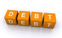 Bloques de la carta de la deuda Imagen de archivo libre de regalías