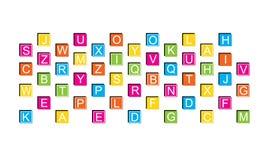 Bloques de la educación, alfabeto Fotos de archivo libres de regalías