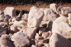 Bloques de la sal del mar de Pinkt Imagenes de archivo
