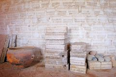 Bloques de la sal y pared de la sal, lago de sal de Salar De Uyuni plano, uyuni, Bolivia imagen de archivo libre de regalías