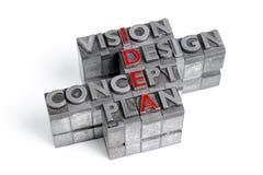Bloques de las siglas del IDEA Imagenes de archivo