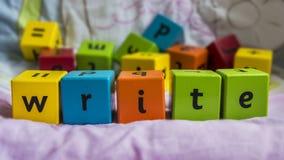 Bloques de los niños Imagen de archivo libre de regalías