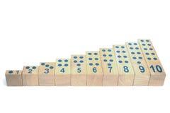 Bloques de madera con número aislados Imágenes de archivo libres de regalías