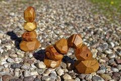 Bloques de madera de la balanza Foto de archivo libre de regalías