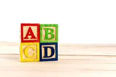 Bloques de madera del ABC Imagen de archivo libre de regalías