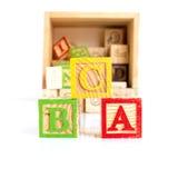 Bloques de madera del ABC Foto de archivo libre de regalías