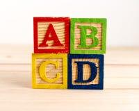 Bloques de madera del ABC Foto de archivo