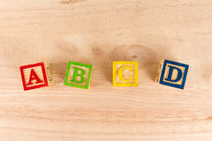 Bloques de madera del ABC Fotografía de archivo