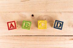 Bloques de madera del ABC Fotos de archivo libres de regalías