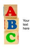 Bloques de madera del alfabeto Imágenes de archivo libres de regalías