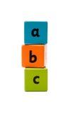 Bloques de madera del alfabeto del ABC Foto de archivo libre de regalías