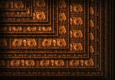 Bloques de madera del dólar Fotografía de archivo