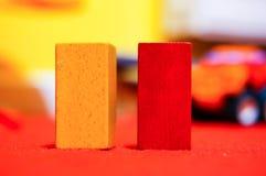 Bloques de madera del juguete Imágenes de archivo libres de regalías
