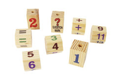 Bloques de madera del número Imagen de archivo libre de regalías