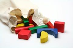 Bloques de madera del niño imágenes de archivo libres de regalías